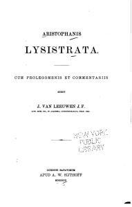 Lysistrata, editado en Lyon por A. W. Sijthoff, 1903