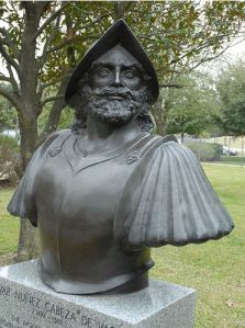 Busto de Alvar Núñez Cabeza de Vaca en Houston