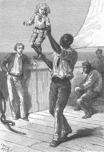 Ilustración de Henri Meyer, para Un Capitán de quince años