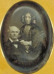 Harriet Beecher Stowe y su marido Calvin Ellis, en 1852