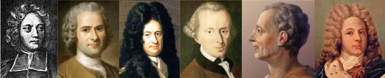 Abbé de Saint-Pierre - Rousseau - Leibniz - Kant - Montesquieu - Saint-Simon