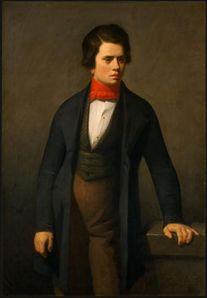 Leconte de Lisle, muy joven, en un retrato por Jean Francois von Millet