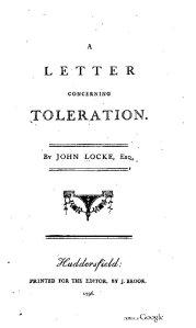 A Letter Concerning Toleration / John Locke - Huddersfield, 1796