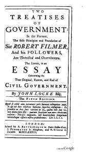 Two treatises of government: in the former the false principles & foundation of Sir Robert Filmer /John Locke - London, Bettesrworth, 1728