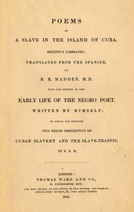 Edición americana de los poemas y la autobiografía de Juan Francisco Manzano