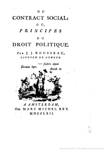 Du contrat social ou Principes du droit politique / par J. J. Rousseau... - M.-M. Rey (Amsterdam), 1762