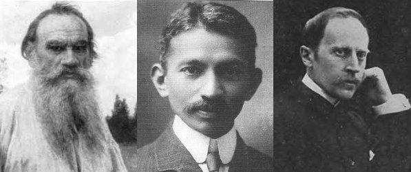 Los precursores del pacifismo moderno : Tolstoï, Gandhi y Rolland