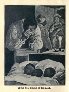 Una ilustración de una edición infantil de 1900 de La Cabaña del Tío Tom