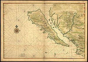 La Isla de California, en 1650