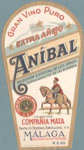 Aníbal - Etiqueta de vino, 19--