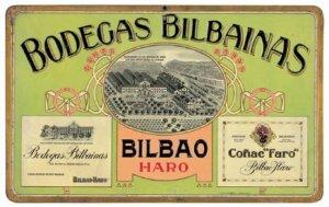 Bodegas Bilbaínas - Cartel publicitario, final S. XIX - principio S. XX