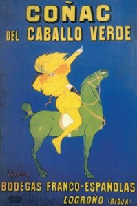 Coñac del Caballo verde - Cartel publicitario