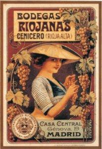 Bodegas Riojanas - Cartel publicitario, final S. XIX - principio S. XX