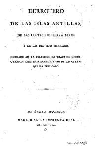 Derrotero de las Islas Antillas , 1810