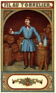 Fil au tonnelier - Etiqueta de botella, S. XIX