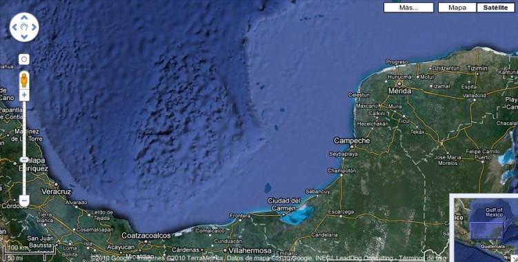 El Golfo de México en Google Maps