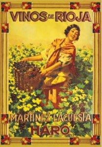 Vinos de Rioja, Martínez Lacuesta - Cartel publicitario, final S. XIX - principio S. XX