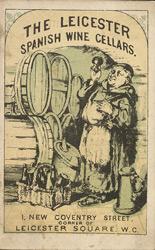 Leicester Spanish Wine Glass - Publicidad para un vino español, 1891