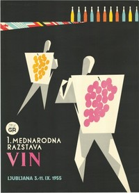 Cartel publicitario esloveno, 1955