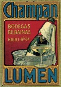 Champán Lumen - Cartel publicitario, final S. XIX - principio S. XX
