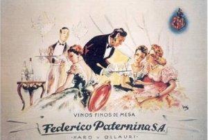 Bodegas Federico Paternina - Cartel publicitario, final S. XIX- principio S. XX