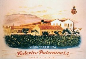 Bodegas Federico Paternina - Cartel publicitario, final S. XIX - principio S. XX