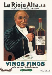 La Rioja Alta - Cartel publicitario, final S. XIX - principio S. XX