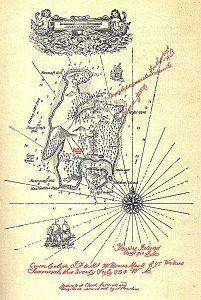 El mapa de La Isla del tesoro