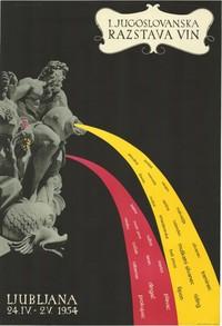 Cartel publicitario esloveno, 1954