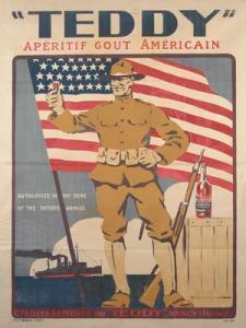 Teddy - Cartel publicitario para un vino aperitivo, 1939-1945