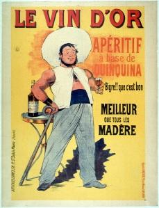 Le Vin d'Or - Cartel publicitario para un vino aperitivo, 19?