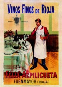 Félix Azpilicueta, Vinos finos de Rioja - Cartel publicitario, final S. XIX - principio S. XX