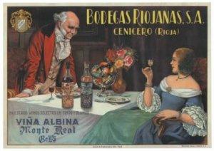 Bodegas Viña Albina - Cartel publicitario, final S. XIX - principio S. XX