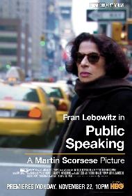 Cartel del documental de Martin Scorsese sobre la escritora Fran Lebowitz