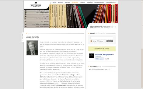 Jorge Herralde : « Puedo defender cada uno de los libros que edité »