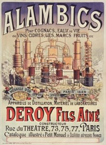 Alambics pour cognac [...] Deroy Fila aîné - Cartel publicitario de 1890