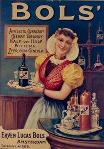 Bols' anesette, curacao' s cherry Brandy - Cartel publicitario, 18?