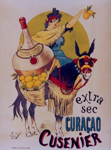 Extra sec Curaçao Cusenier - Cartel publicitario, 18?