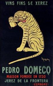 Vins fins de Jerez Pedro Domecq - Cartel publicitario de 1912