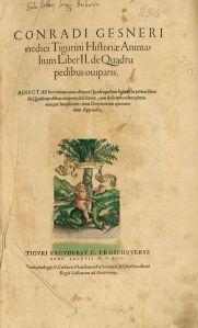 Conrad Gessner - Historiae Animalium...