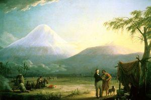 Friedrich Georg Weitsch – Humboldt y Bonpland al pie del volcán Chimborazo (1810)