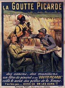 La Goutte picarde - Cartel publicitario de 1914