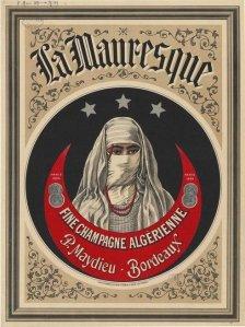La Mauresque, fine champagne algérienne - Cartel publicitario, 1890