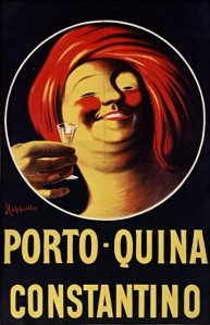 Porto-Quina Constantino - Cartel publicitario de 1911