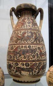 Frasco de estilo corintio. S. VI a.C.