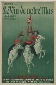 Buvez le vin de notre mas garanti naturel - Cartel publicitario, 1934