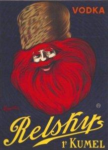 Vodka Relskys - Cartel publicitario, 1911