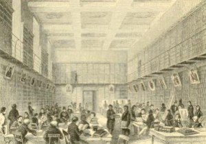 Washington Irving – The Art of Book-making, ilustración de Herrick (1863)