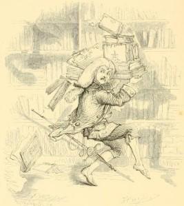 Washington Irving – The Art of Book-making, ilustración de Hoppin (1863).