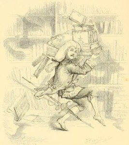 Washington Irving – The Art of Book-making, ilustración de Hoppin (1863).